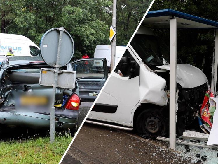 Ravage in Beekbergen: wagen ramt bushokje, twee gewonden