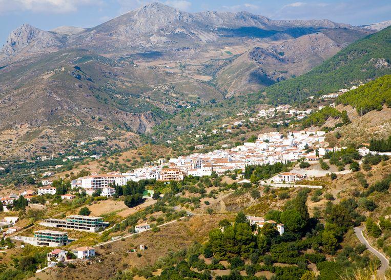 Het Zuid-Spaanse bergdorpje Alcaucín. Blancke zou er nog graag een rusthuis bouwen.