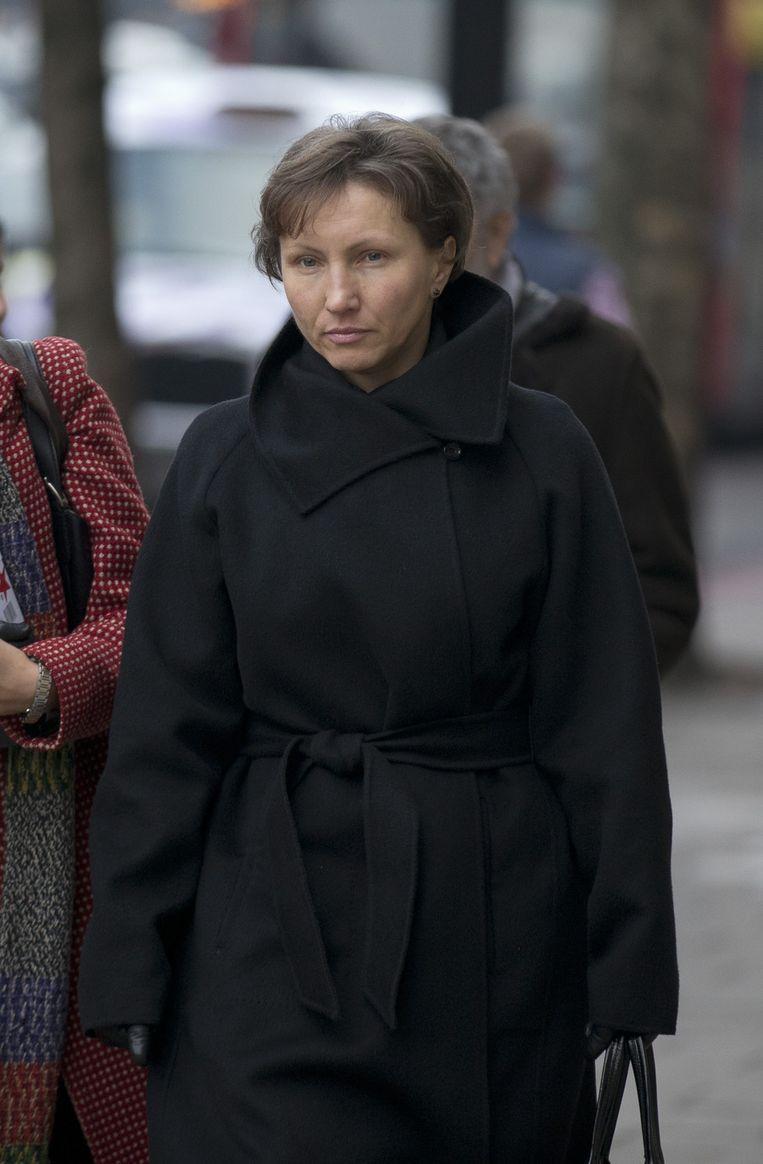 Maria Litvinenko, de weduwe van de vermoorde dubbelagent. Beeld AP