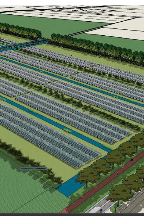 'Zonnepark' Goudswaard op land aardappelhandel