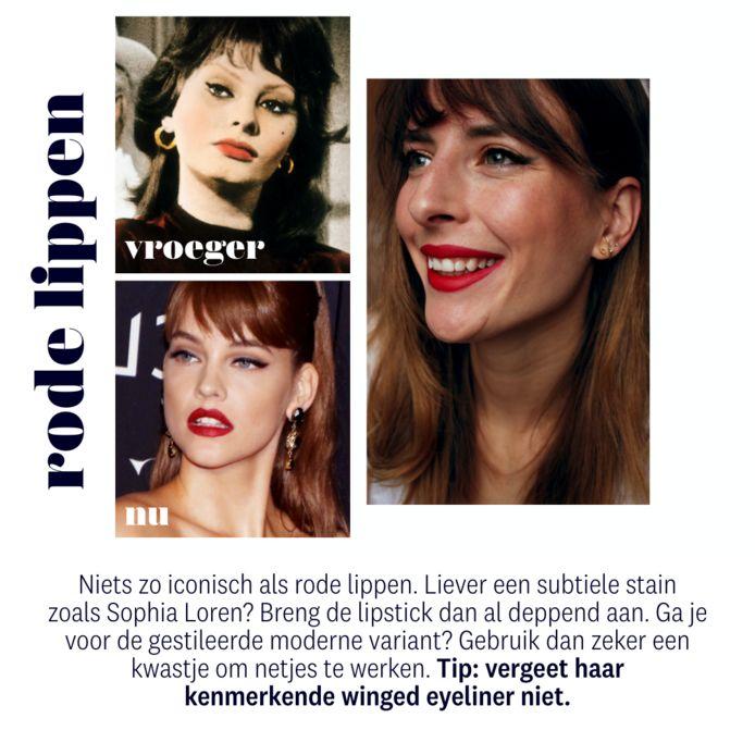 boven: Sophia Loren onder: model Barbara Palvin
