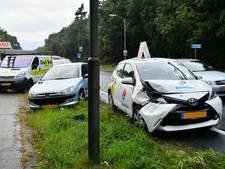 Drie voertuigen betrokken bij aanrijding op N69 bij Valkenswaard