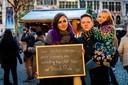 Marie Van Geyte (24) en Steven (32) en Haley (7) Braem.