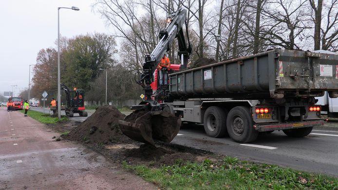 Ongeluk vrachtwagen Enschede Euregio