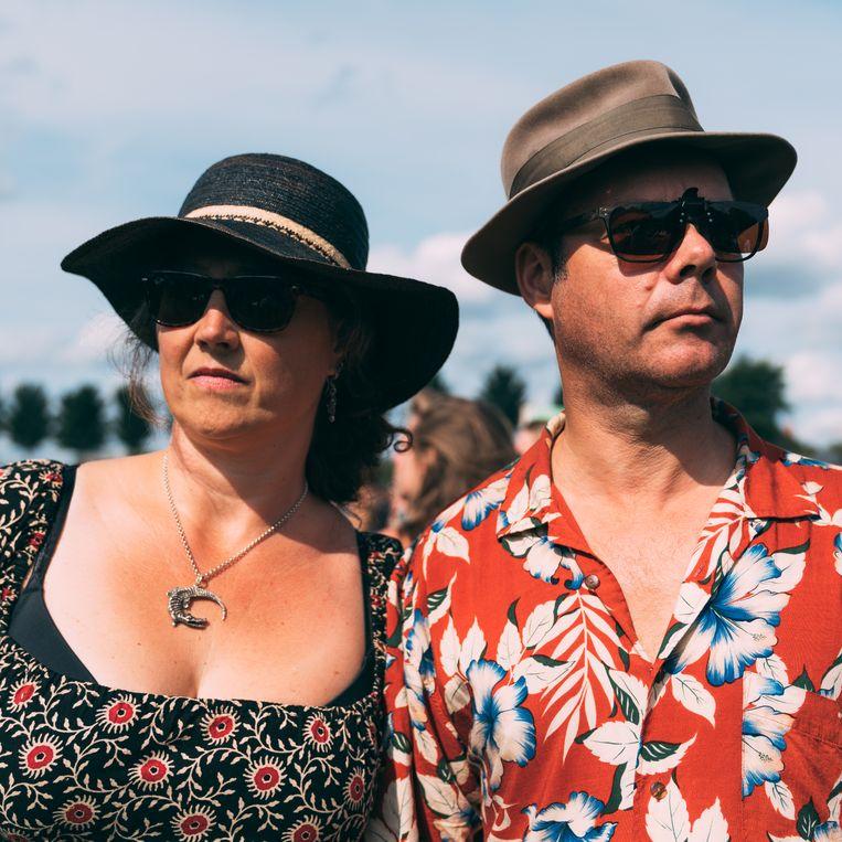 Monique van der Werf (46) en Marco Buschman (54).  Beeld Rebecca Fertinel