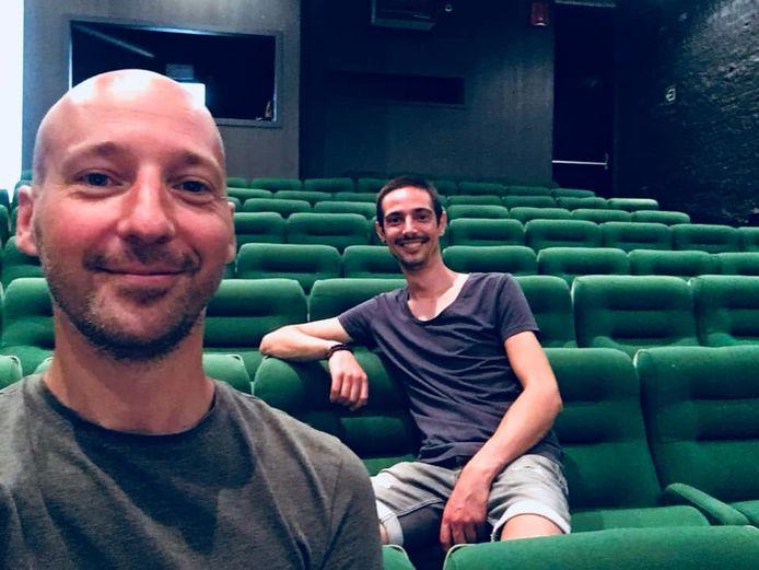 Stefan De Waele en Yves De Lathauwer in vrolijker tijden.