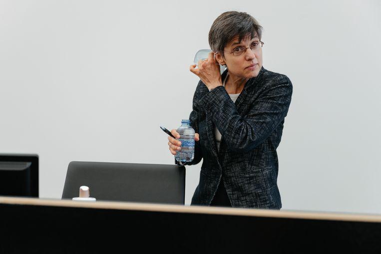 Gouverneur van Antwerpen Cathy Berx. Haar provincie legde strenge maatregelen op en heeft nu de kleurcode oranje gekregen.  Beeld Damon De Backer