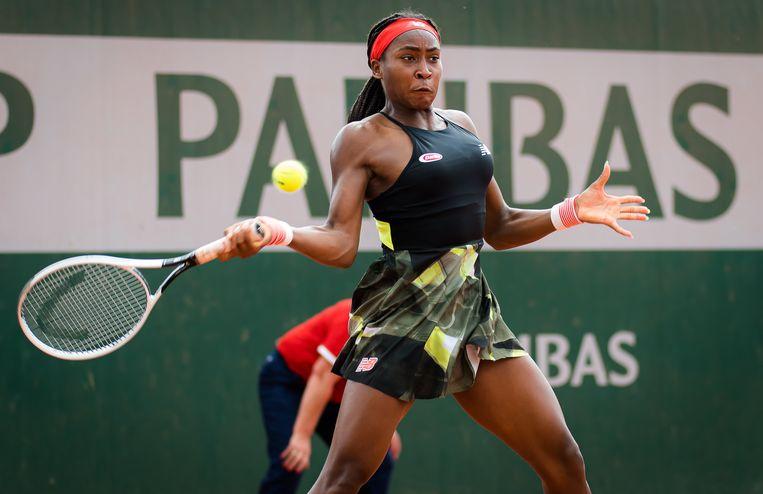 De speelstijl van Cori Gauff doet denken aan die van Serena Williams. Beeld Photo News