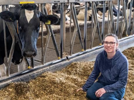 De jonge Manon is gelukkig tussen haar koeien: 'Een keer een weg blokkeren moet kunnen'