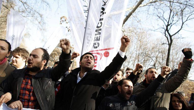 Protest in Turkije vanwege Erdogan's pogingen om het internet te beperken. Beeld reuters