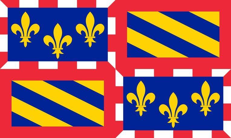 De vlag van de Franse regio Bourgondië.