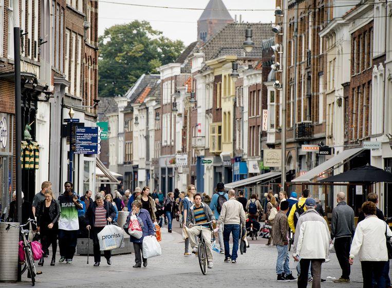 Toen het nog mocht: winkelend publiek in de binnenstad van Den Bosch (2013). Beeld ANP