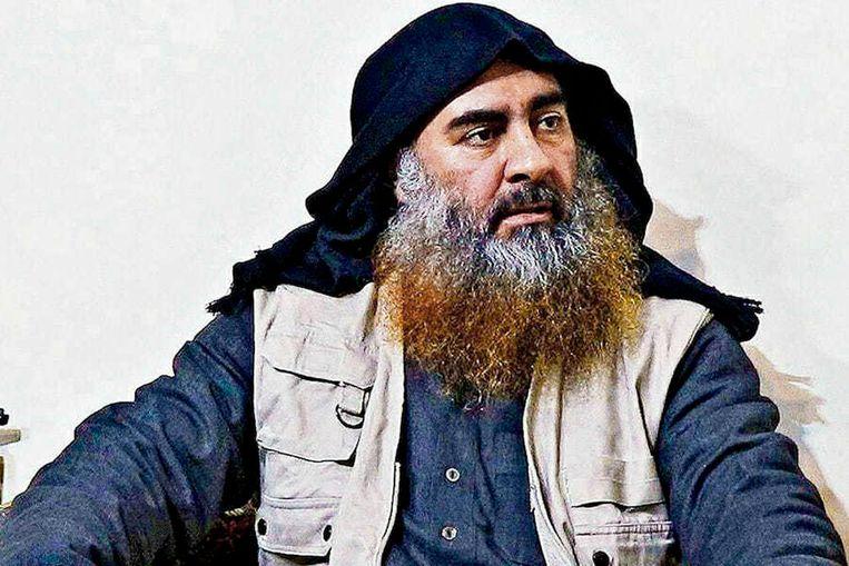 Archiefbeeld van IS-leider Abu Bakr al-Baghdadi. Beeld AP