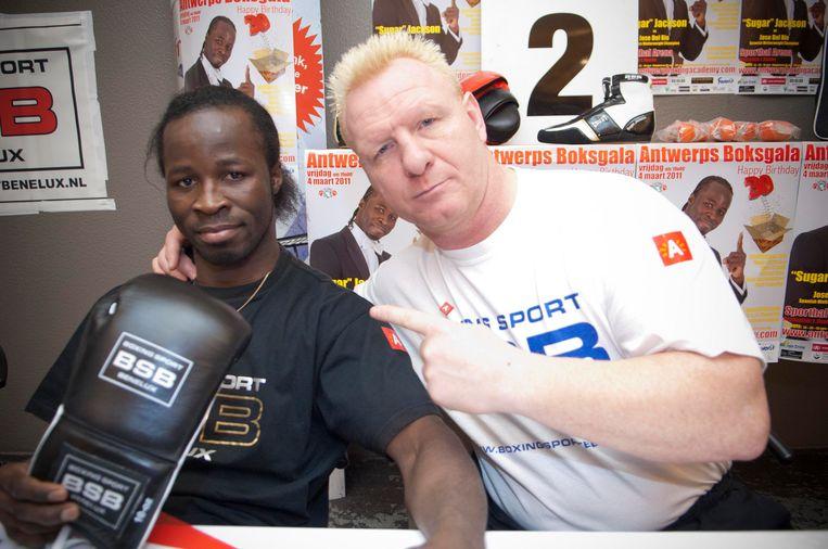 Jackson met coach De Vulder. Beeld BELGA
