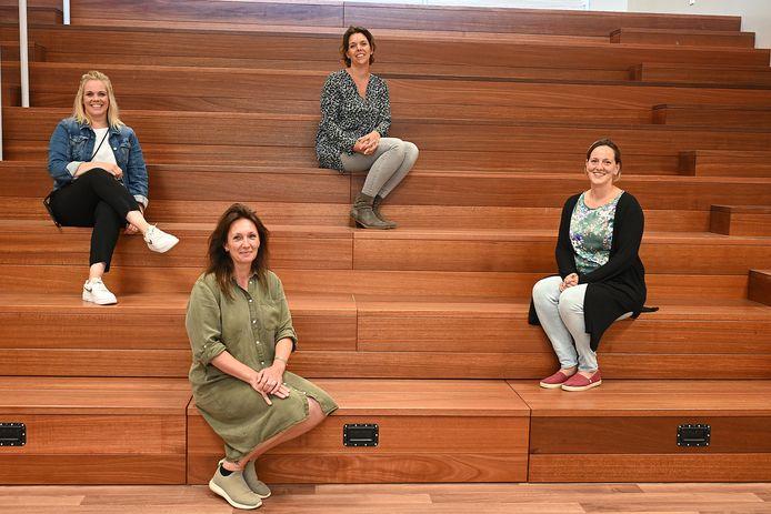 Vanaf links: De Piramide-directeur Cristel Boer, Spring-manager Femke Scholtes, Stella Nova-directeur Isabel Jansen en Elckerlyc-directeur Leontine Müskens.