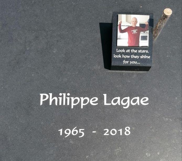 Het grafzerk van Philippe Lagae