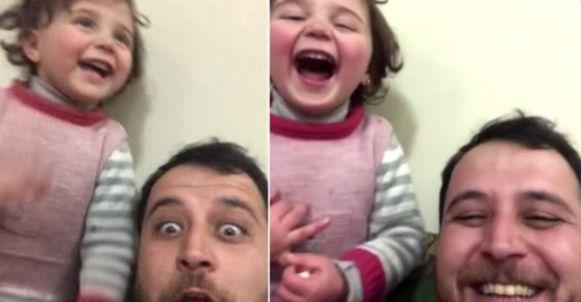 Abdullah Mohammad maakte van de explosies een spel om zijn dochter te beschermen tegen een trauma.