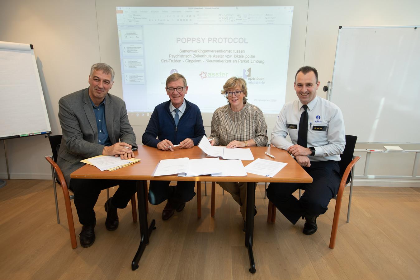 Ondertekening protocol tussen het Psychiatrisch Ziekenhuis Asster vzw, de lokale politie Sint-Truiden - Gingelom - Nieuwerkerken en het Parket Limburg