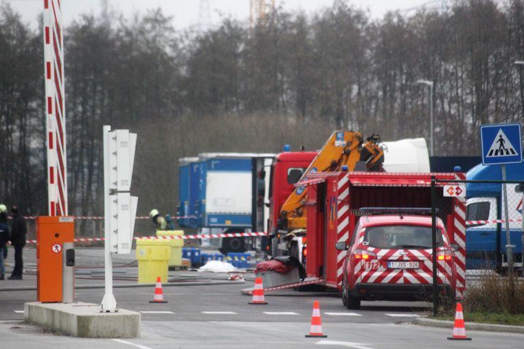 Brandweerzone Oost Limburg kwam ter plaatse om het lek onder controle te krijgen.