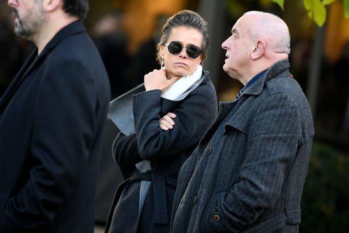 Gella Vandecaveye kon haar tranen achter haar zonnebril verbergen.