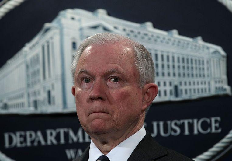 Amerikaans justitieminister Jeff Sessions. Beeld AFP