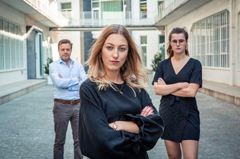 De Mol 2020 finalisten Bart, Alina en Jolien. Beeld VIER