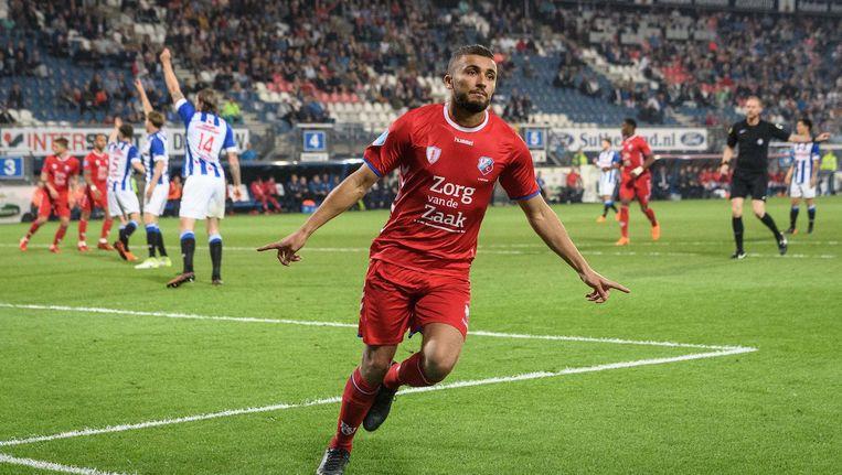 Labyad na een doelpunt voor FC Utrecht Beeld Pro Shots / Lars Smook