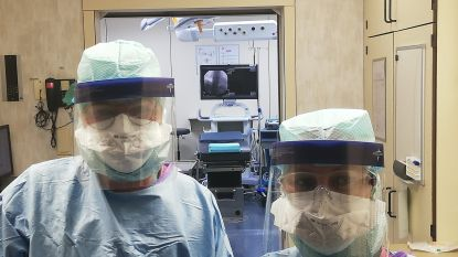Richtpunt campus Zottegem ondersteunt ziekenhuizen: leerkrachten  maken gelaatsmaskers