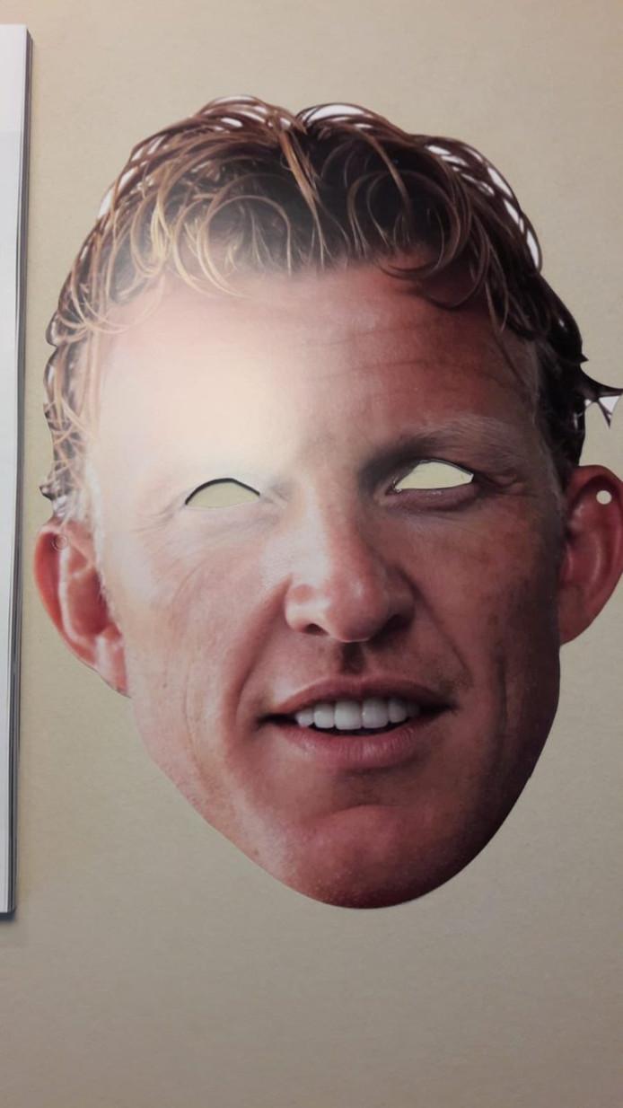 Het masker van Dirk Kuyt.