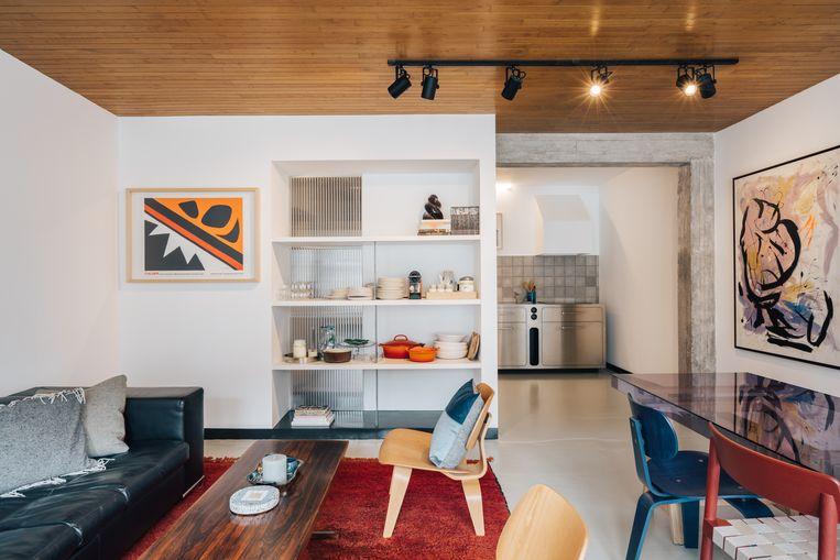 Seventies-appartement Paloma in Oostende.  Beeld © Evenbeeld