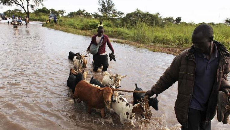Overstromingen in Zuid-Soedan. Beeld REUTERS