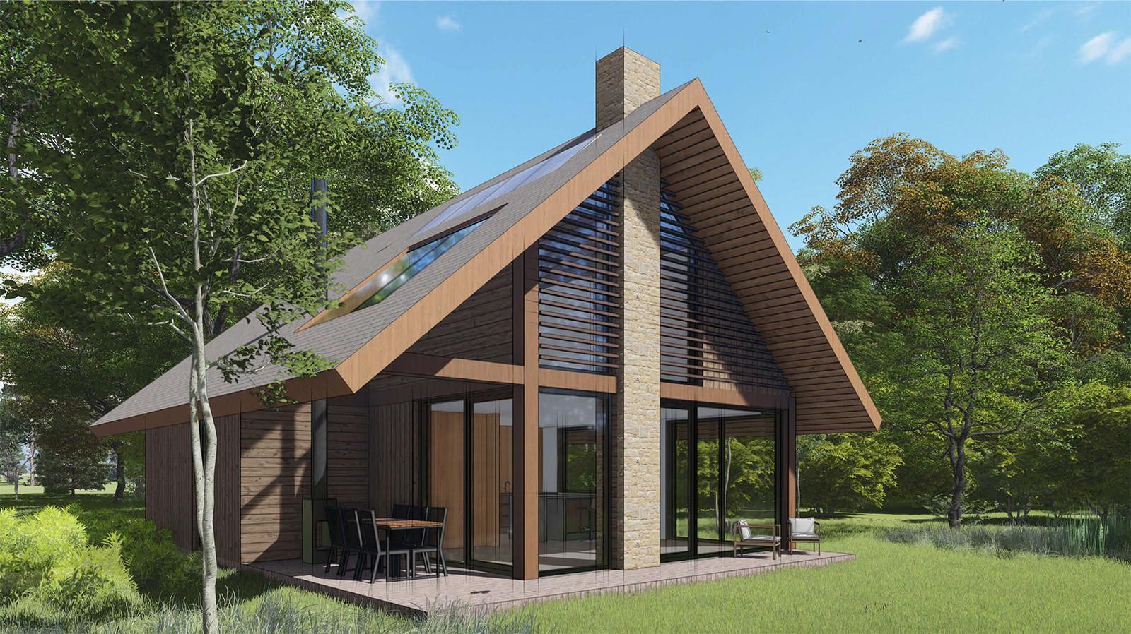 Het nog te bouwen recreatiepark Landal De Brabantse Wal.
