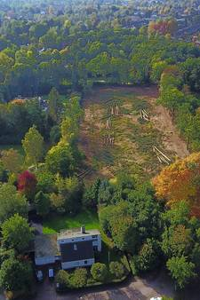 Enorme achtertuin van Pieter van den Hoogenband verwoest