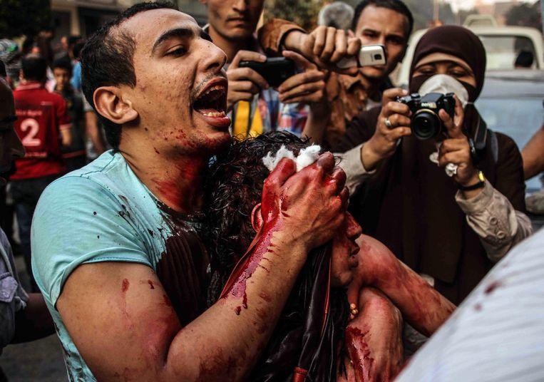 In Egypte werd het eerste democratisch verkozen staatshoofd in 2013 al opzijgeschoven met een bloedige coup. Beeld EPA