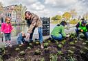 Foto uit 2017: buurtbewoners helpen met het opfleuren van het Singelpark.