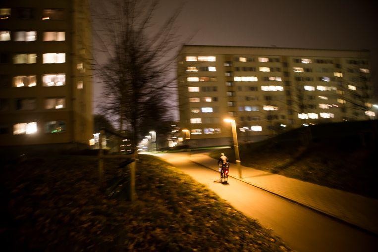 Flatgebouwen in de wijk Kroksbäck ten zuiden van het stadscentrum waar veel migranten wonen. Beeld Julius Schrank / De Volkskrant