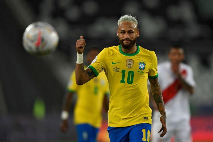 Neymar is de grote vedette van Brazilië.