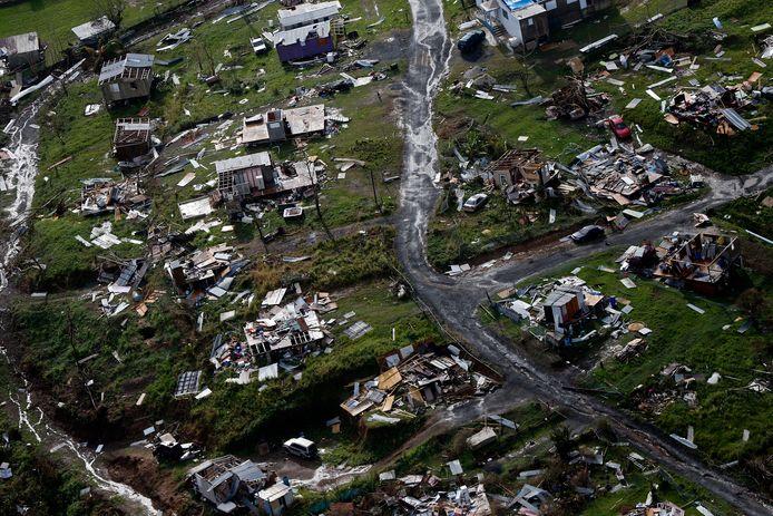 Archiefbeeld. Orkaan Maria trok in september 2017 een spoor van vernieling op het eiland Puerto Rico. (28/09/2017)