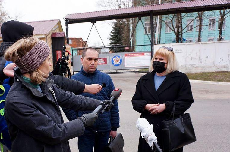 De advocaten van de oppositieleider konden hun cliënt bezoeken in de stad Vladimir. Ze zijn erg ongerust.  Beeld AP