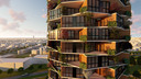 Een woontoren opgebouwd uit Living Blocks, van Peter Heuvelmans en Hidde Engwerda uit Lage Mierde/Netersel.