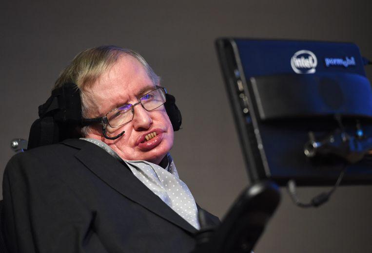 Stephen Hawking in 2015. Beeld EPA