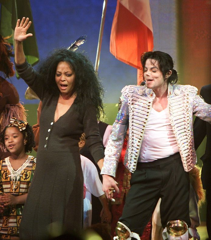 Michael Jackson en Diana Ross in 2002.