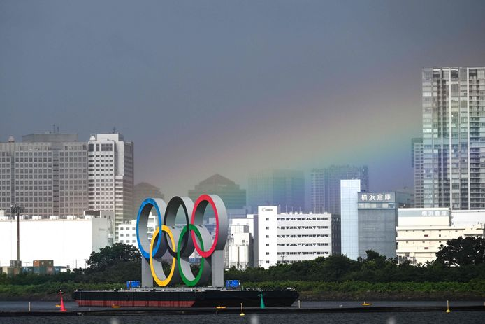 Olympische ringen.