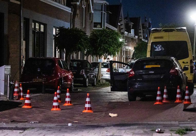 Politieonderzoek na een schotenwisseling in de Dordtse wijk Het Reeland.  Beeld ANP