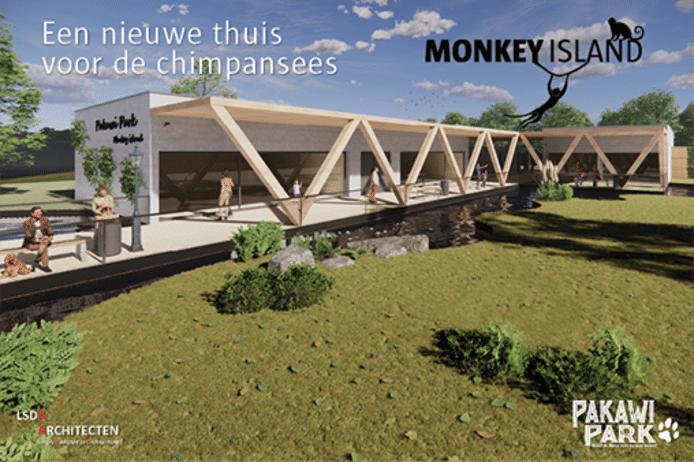 Een toekomstbeeld van het nieuwe Monkey Island.